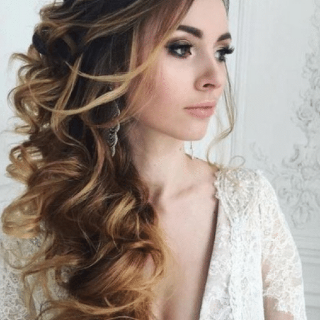 a2d3722701 10 dicas de penteados noivas cabelos longos semi preso